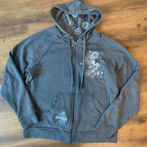 Disney embroidered Mickey Mouse zip up hoodie sz M